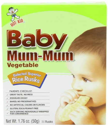 Hot Kid Baby Mum Mum Biscuits, Vegetable, 1.76 Ounce (Pack of 12) by Hot Kid