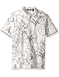 Men's Floral Printed Polo