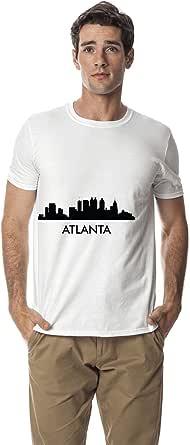 Santhome 180 GSM Mens Atlanta city Skyline cotton round neck tshirt,