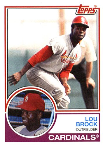 Lou Baseball Brock Card (2015 Topps Archives Baseball Card #271 Lou Brock NM-MT)