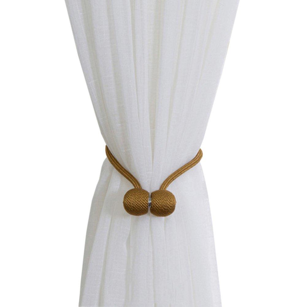Joyci One Pair Curtain Buckle Creative Curtain Bind Europe Type Curtain Magnetic Tieback (Coffee gold)