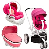 Quinny Moodd Stroller Travel System, Pink Passion/White with Bassinet