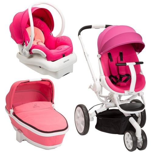 Quinny-Moodd-Stroller-Travel-System-Pink-PassionWhite-with-Bassinet