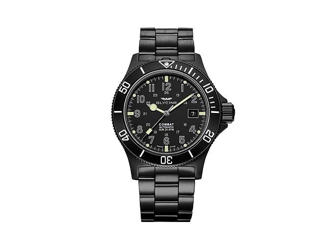 Reloj Automático Glycine Combat Sub, GL 224, PVD, Negro, 42mm, GL0079: Amazon.es: Relojes