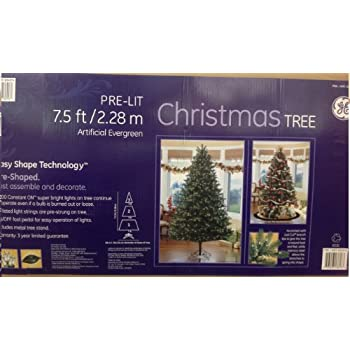 christmas tree pre lit 75 ft228m artifical evergreen