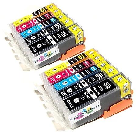 10 Druckerpatronen MIT CHIP für Canon Pixma IP7250 IP8750 MG5450 MG5550 MG5650 MG 5655 MG6350 MG6450 MG6650 MG7150 MG7550 Can