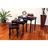 Frenchi Home Furnishing Espresso 3-Piece Nesting End Table