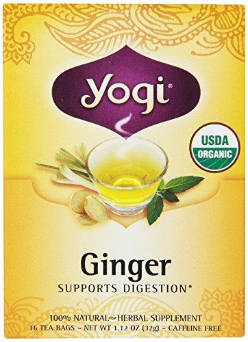 Yogi Tea Ginger, 16 sachets de thé (pack de 6)