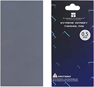 nkomax Thermalright Thermal Pad 12.8 W/mK, 85x45x0.5mm, Non Conductive Heat Resistance High Temperature Resistance, Silicone Thermal Pads for Laptop Heatsink/GPU/CPU/LED Cooler (0.5mm)