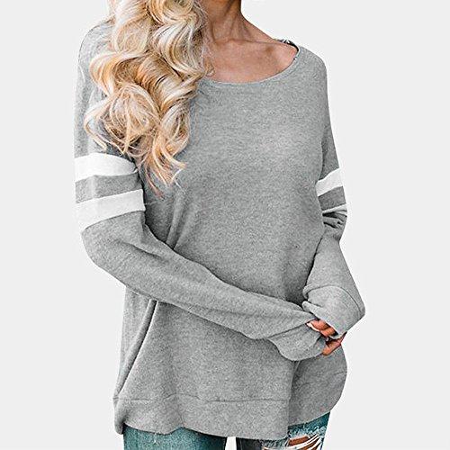 Chic RTro Blouse Pull Blouse Top T Gray Chandail Manches Tops LGant Splice Sexy Vtements Nouvelle Lace Fleuri Shirt Femme Longues Mode Chemisier Femmes Dames 2018 qwxYdt0gg