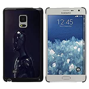 LECELL -- Funda protectora / Cubierta / Piel For Samsung Galaxy Mega 5.8 9150 9152 -- Black Sci Fi Robot --
