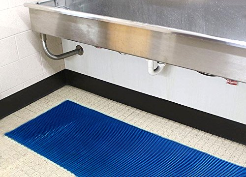VinTube Vinyl Pool Mat Shower Bathroom Locker Room Sauna SPA Drains Water Comfortable on Bare Foot Mat Runner by MattingExperts (3' x 6')