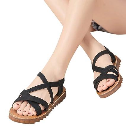 5c6b1634cc2ec Amazon.com: Women'S Sandals Bummyo Ladies Sandals Flat Open Toe ...