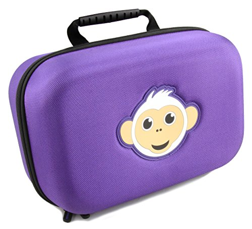 KIDCASE Travel Kids Doll Case Compatible with Up to 3 Barbie Dolls and Doll Accessories Aprice , Janyun Barwa Fashion , Dongguo Clothes and More, Purple Monkey Case Only
