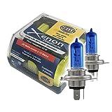 Hella H4XE-TLL Kit de 2 Focos HELLA TLL H4/ 9003/ HB2. Número de Parte HELLA: H4XE-TLL en Estuche, color Azul, h4, pack of/paquete de 2