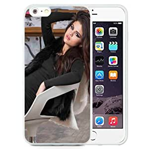 NEW Unique Custom Designed iPhone 6 Plus 5.5 Inch Phone Case With Selena Gomez Brown Long Hair_White Phone Case wangjiang maoyi