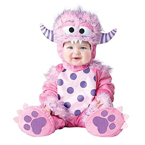 Halloween Baby Girls Pink Little Monster Fancy Dress Costume Romper Outfits Suit Pink Elf 24M