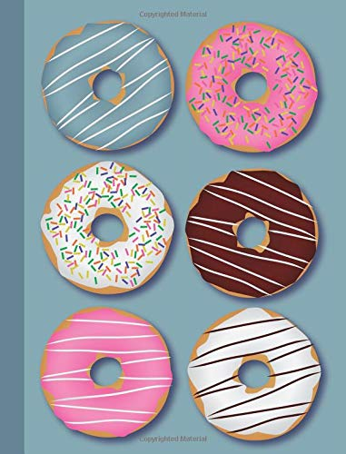 Download Composition Book: Doughnuts on Blue Background 100 Sheets/200 Pages 7.44 x 9.69 4x4 Graph Paper Math Notebook/Journal (Foodie 4x4 Graph Paper Composition Books) (Volume 2) pdf epub