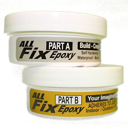 All-Fix Epoxy Putty Kit 1/2 Pound - Pool - Marine - Underwater - Pond - Tank - Premium Sculpting Modeling & Repair Compound - Arts & Crafts Jewelry Design - Sculpting - Modeling Fix All Things
