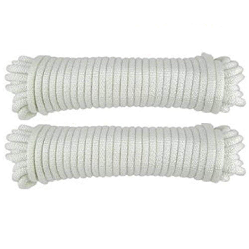 Katzco Nylon Twisted Braided Rope - 2 Pack - 3/16 Inch x 100 Foot Anchor Rope Moving, Camping, Towing, Outdoor Adventure, Mountain Climbing, Gardening, Boat Docks
