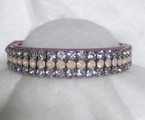Sugarlicious Pets Angel in Opals & Violet!~ Purple Lavender Crystal Diamante Rhinestone Dog Pet Collar WIDE with LARGE Stones USA (Medium)