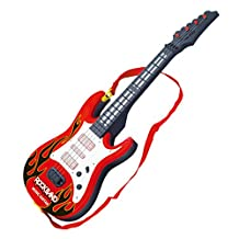 Toy Electric Guitar, Peleustech Rock Band Music Electric Guitar 4 Strings Kids Musical Instruments Educational Toy Children Toy Guitar Instruments