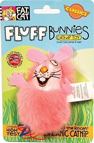 - Petmate Fat Cat Classic Fluff Bunnies, Color May Vary