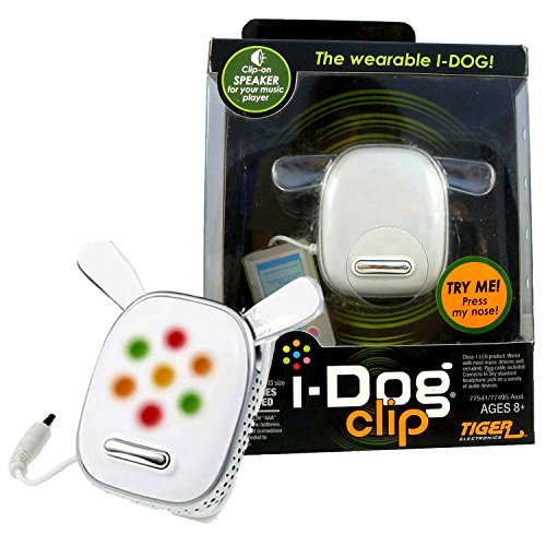 - Tiger Electronics Year 2008 i-Dog Series Mini Speaker : i-DOG CLIP with Light Flashing to the Beat of Your Music (Music Player Sold Separately)