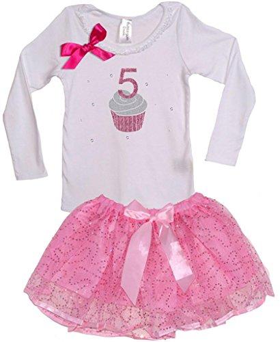 Price comparison product image Bubblegum Divas Little Girls' Cupcake 5th Birthday Long Sleeve TuTu Set