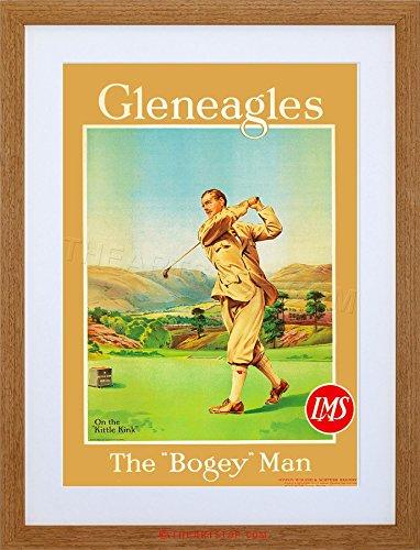 The Art Stop Travel Sport Golf GLENEAGLES Scotland Bogey Rail Framed Print F97X6927