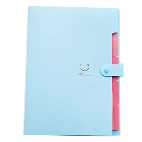 Candy Color Smile - Funda para archivador (A4, plástico, impermeable, 5 capas