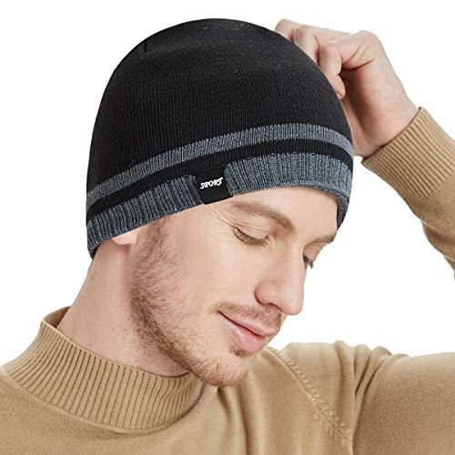 91d41cebaa5 Bodvera Mens Winter Beanie Hat Warm Knit Cuffed Plain Toboggan Ski Skull Cap  4 Colors