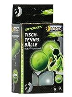 Best Sporting Tischtennisbälle, 6 St, glow in the dark