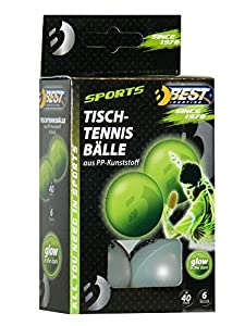 Best Sporting Tischtennisbälle, 6 St, glow in the dark