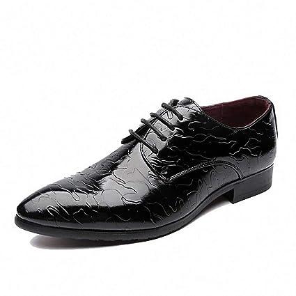f22c4e76b2c3 Amazon.com: Starttwin Men's Formal Shoes Classic Microfiber Wedding ...