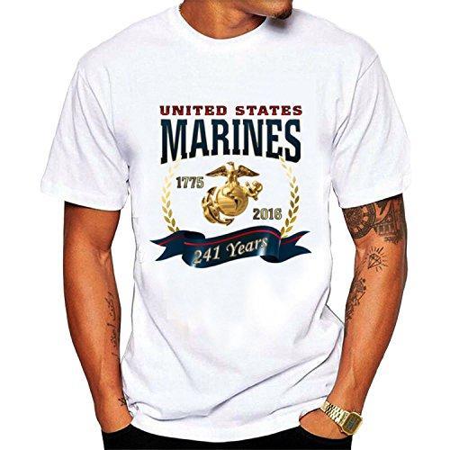 Men's 241 Years Birthday Marine T shirt XXL White cool ()