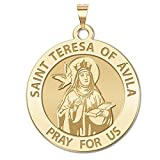 Saint Teresa of Avila - Available in Solid 10K And14K Yellow or White Gold, or Sterling Silver