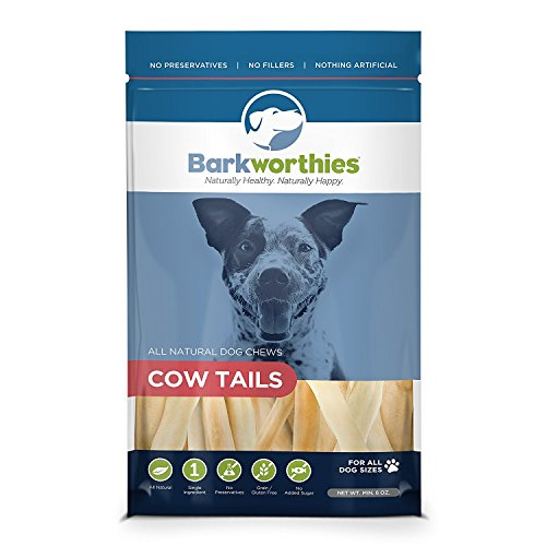 Picture of Barkworthies Cow Tail By 100% Natural Beef Dog Chews