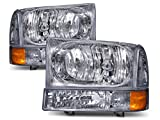 Super Duty/Excursion Euro Headlights 4 Piece Set Driver/Passenger Side