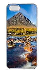 Nature Landscape Custom PC Hard Case Cover for iPhone 5S and iPhone 5 - Transparent