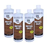 Pool Mate 1-2550-04 Metal Out Stain and Mineral Inhibitor for Swimming Pools,1-Quart, 4-Pack