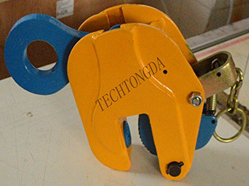 Vertical Plate Lifting Clamp With Lock Hoist Hook Chain Lifter Machine3Ton