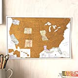 Scratch Off Map of The World Poster - Travel Gift