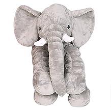 HYXT Animals pillow Grey Elephant Stuffed Plush Pillow Pals Cushion Plush Toy Cute Baby Pillow Cushion for Children's(60 x 55cm/ 24 x 22in)