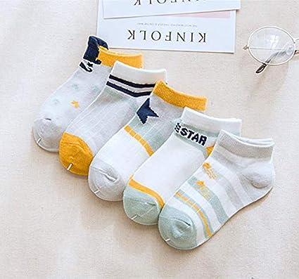 Topsaire Chaussettes B/éb/é 5 Paires chaussettes bebe Fille 0 /à 3 ans Enfant Chaussettes Naissance en Coton Accessoires Mignon v/êtements b/éb/é fille Respirant Baby Sock pour B/éb/é Chaussettes