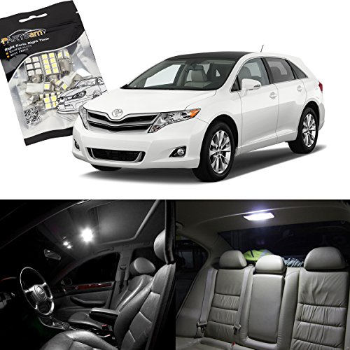 Toyota Venza 2014 Price: Partsam 2009-2015 Toyota Venza White Interior LED Package
