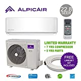 AlpicAir 9,000 BTU Ductless Mini Split Air Conditioner System 22.8 SEER Inverter Heat Pump