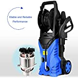 Goplus Electric High Pressure Washer 2030PSI 1.6GPM 1800W Power Pressure Washer Machine w/High Pressure Hose and Wash Brush (Blue)