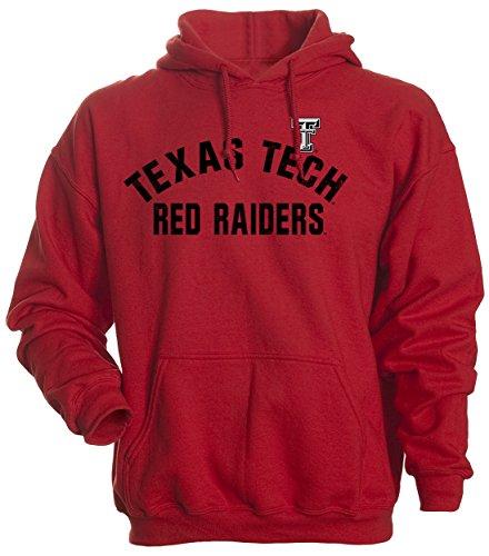 (Camp David NCAA Texas Tech Red Raiders Men's Basic Fleece Hoodie, Large, Red)