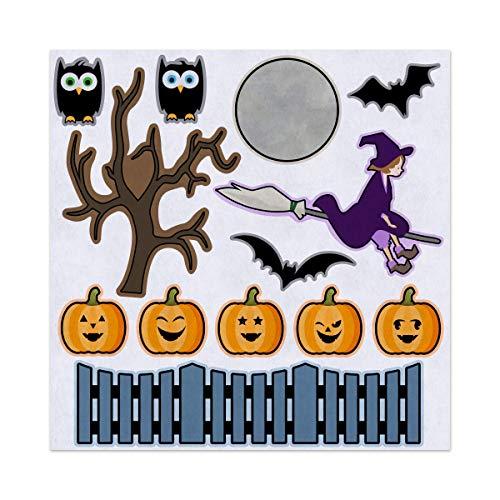 5 Little Pumpkins Halloween Nursery Rhyme Felt Play Art Set Flannel Board Story Storyboard Pieces ()